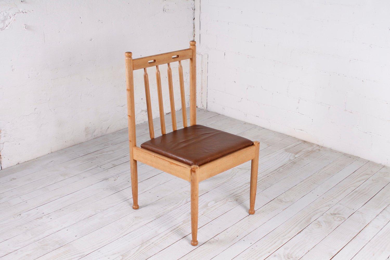 vintage stuhl aus eiche mit hoher r ckenlehne 1960er bei pamono kaufen. Black Bedroom Furniture Sets. Home Design Ideas