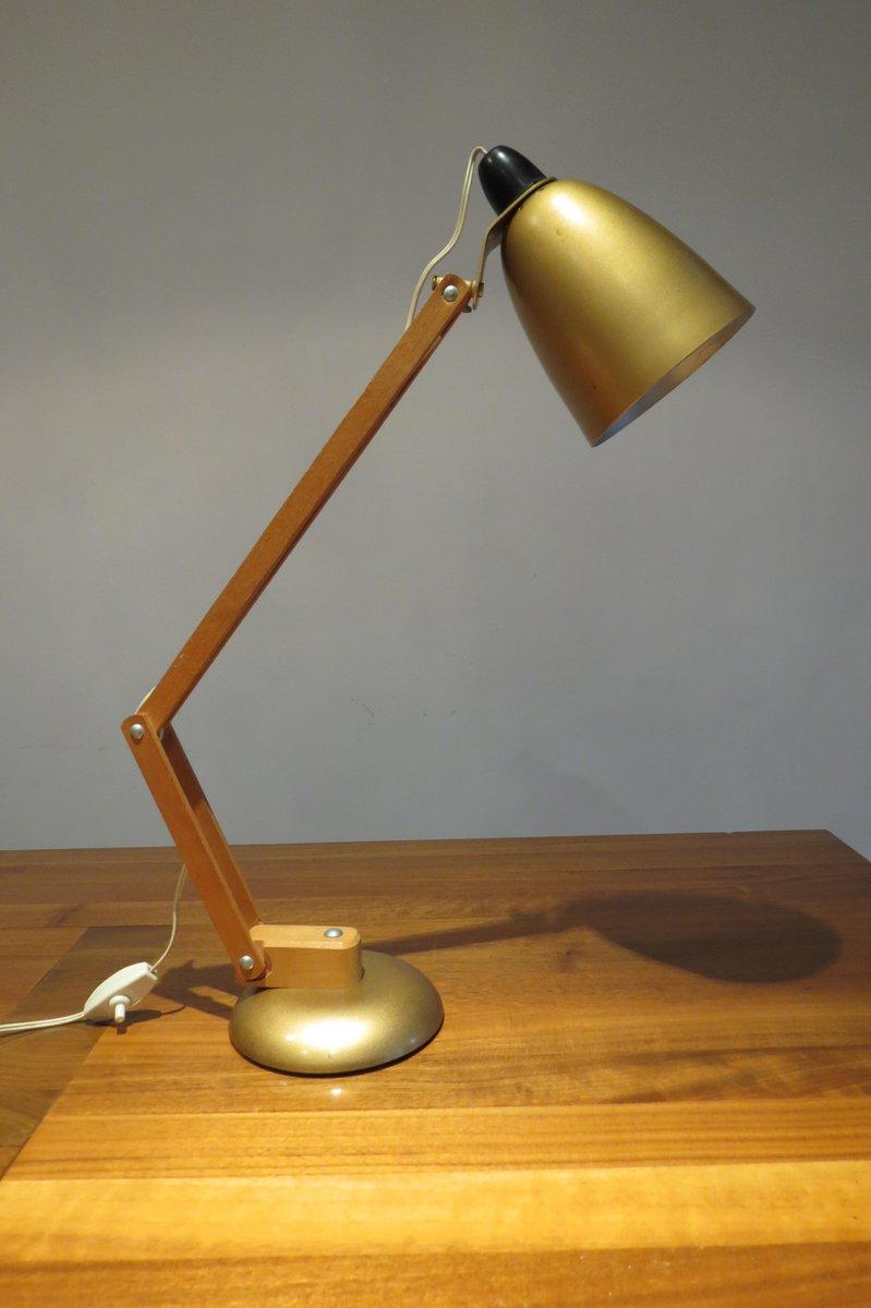Goldene Tischlampe von Terence Conran für Maclamp, 1960er