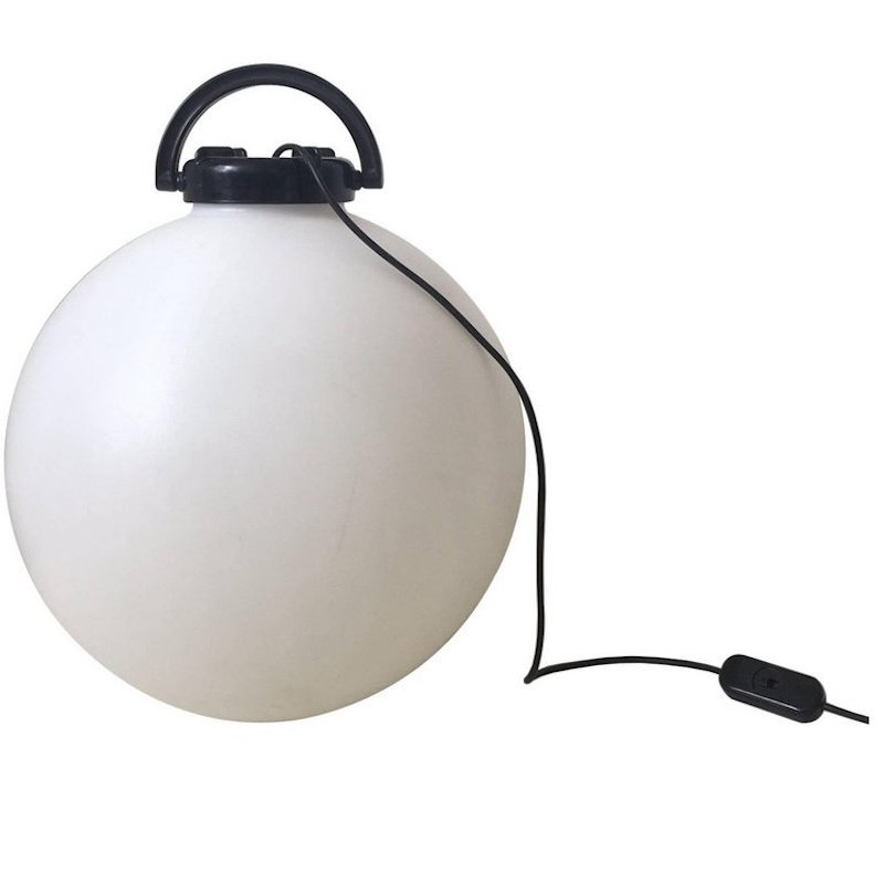 Tama Stehlampen in Schwarz & Weiß von Isao Hosoe für Valenti, 1975