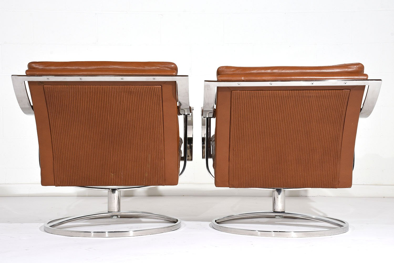Mid century modern lounge chairs by gardner leaver for steelcase set of 2