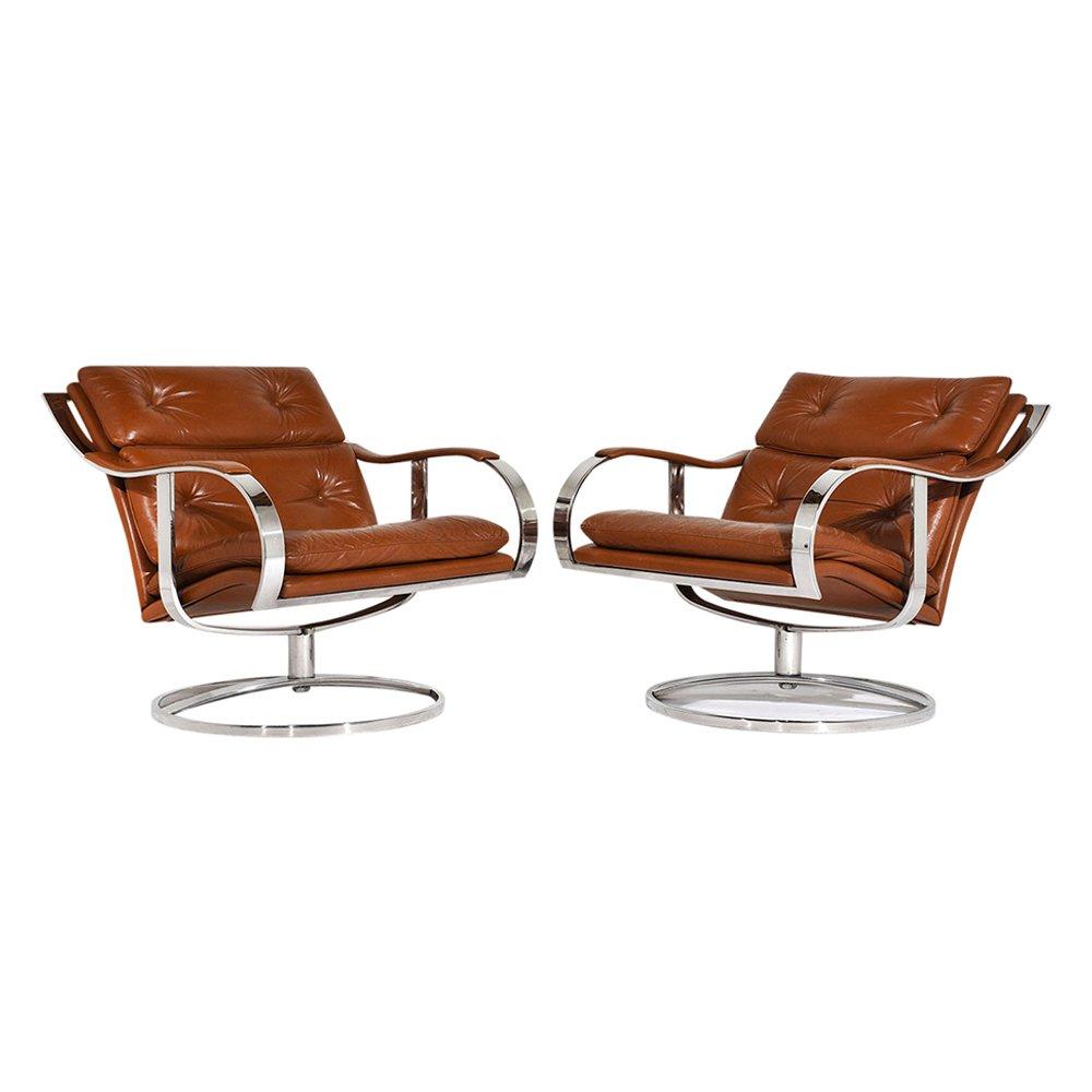 Mid-Century Modern Sessel von Gardner Leaver für Steelcase, 2er Set