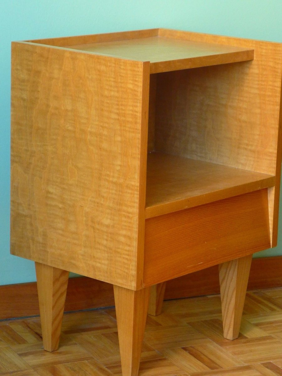 small bedside table 1950s for sale at pamono. Black Bedroom Furniture Sets. Home Design Ideas