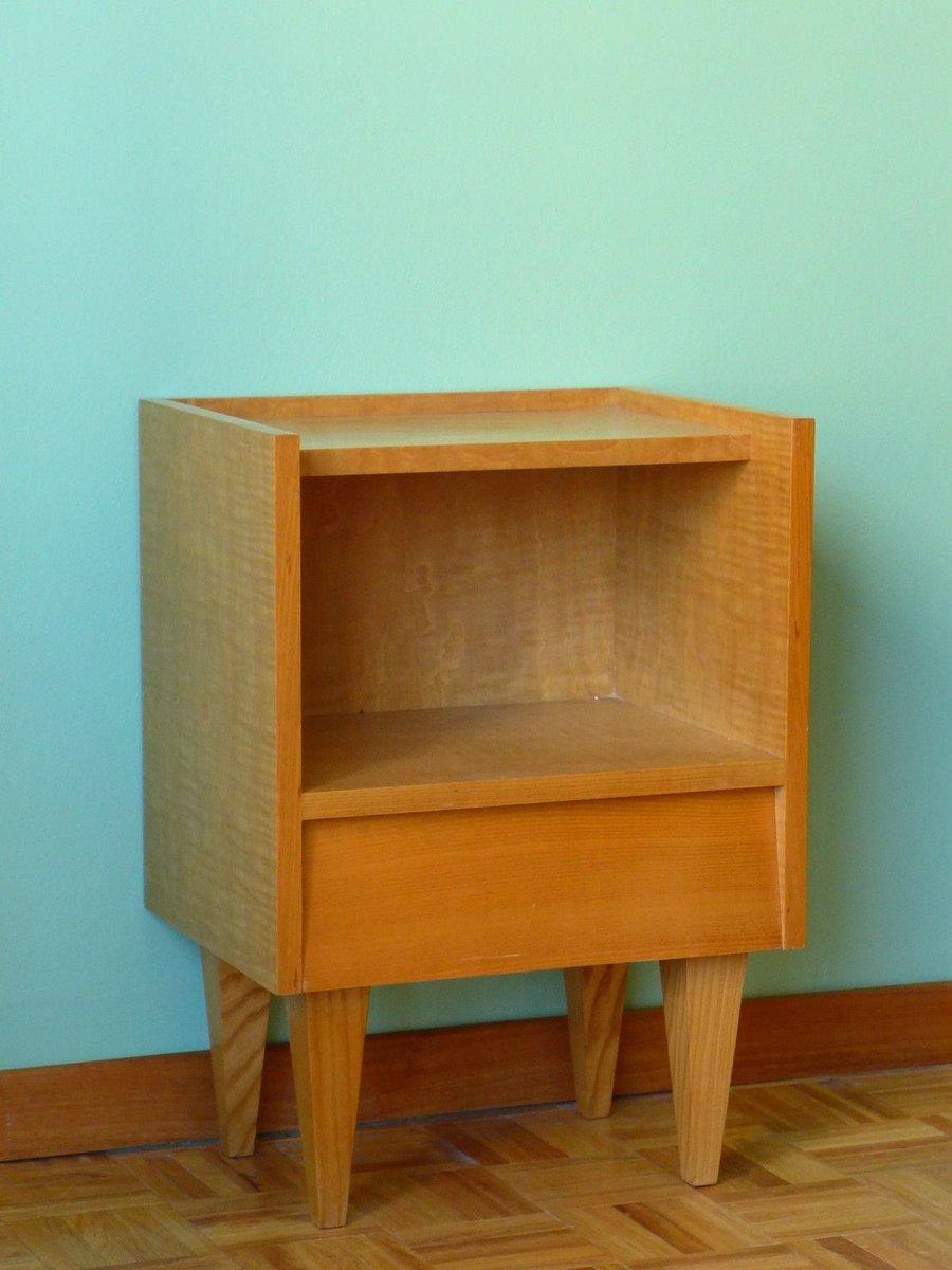 petite table de chevet 1950s en vente sur pamono. Black Bedroom Furniture Sets. Home Design Ideas