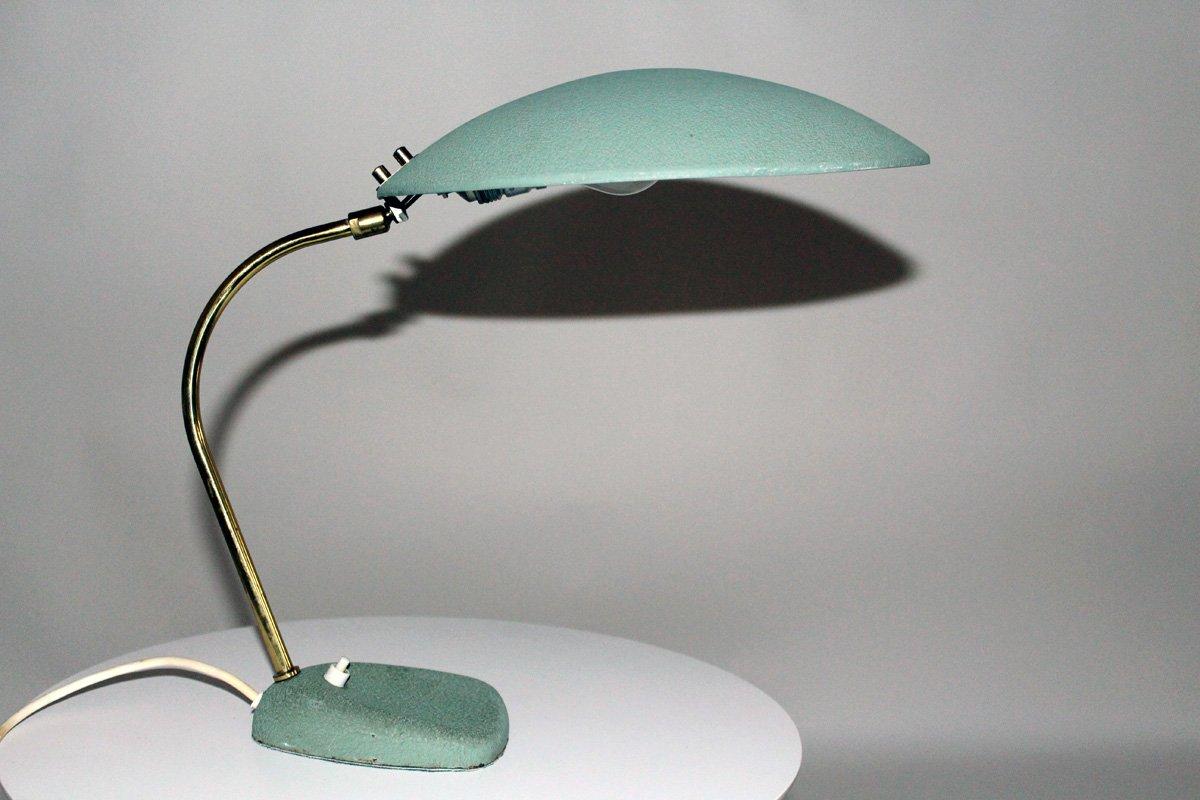 Tischlampe mit Metall Leuchte von Molecz, 1950er
