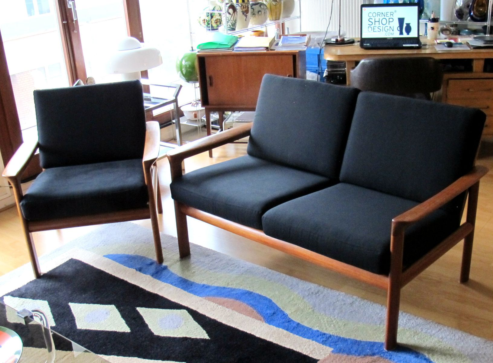 Sofa und Sessel von Arne Whal Iversen für Komfort, 1960er
