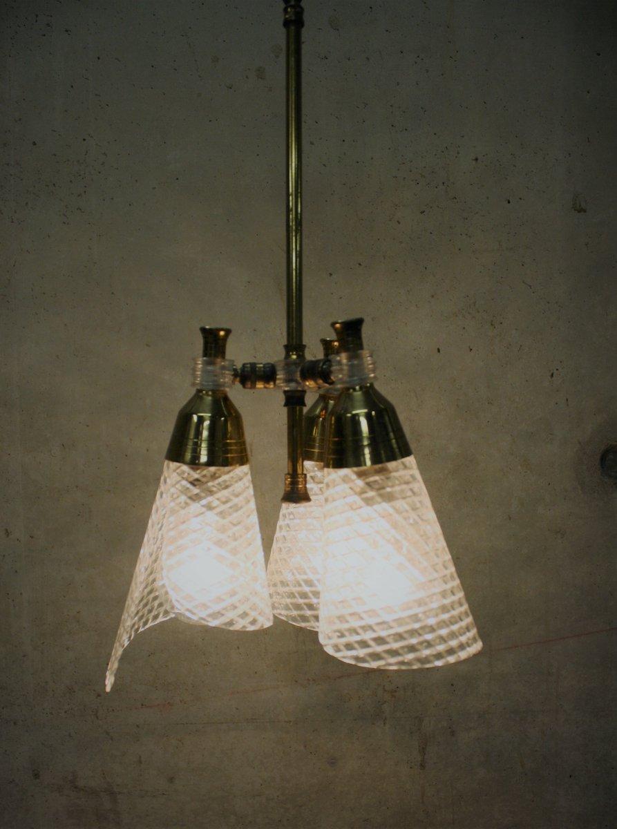 Mid-Century Kronleuchter mit Drei Leuchten, 1960er