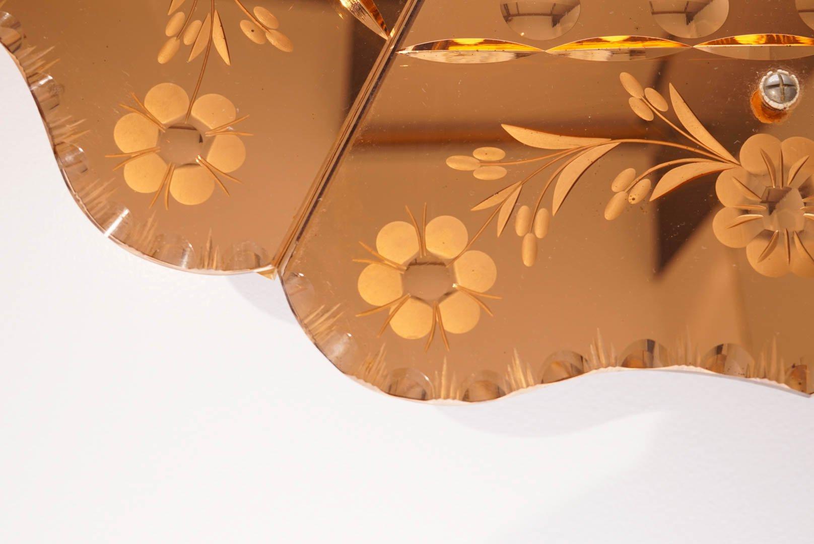 miroir venitien art d co 1930s en vente sur pamono. Black Bedroom Furniture Sets. Home Design Ideas