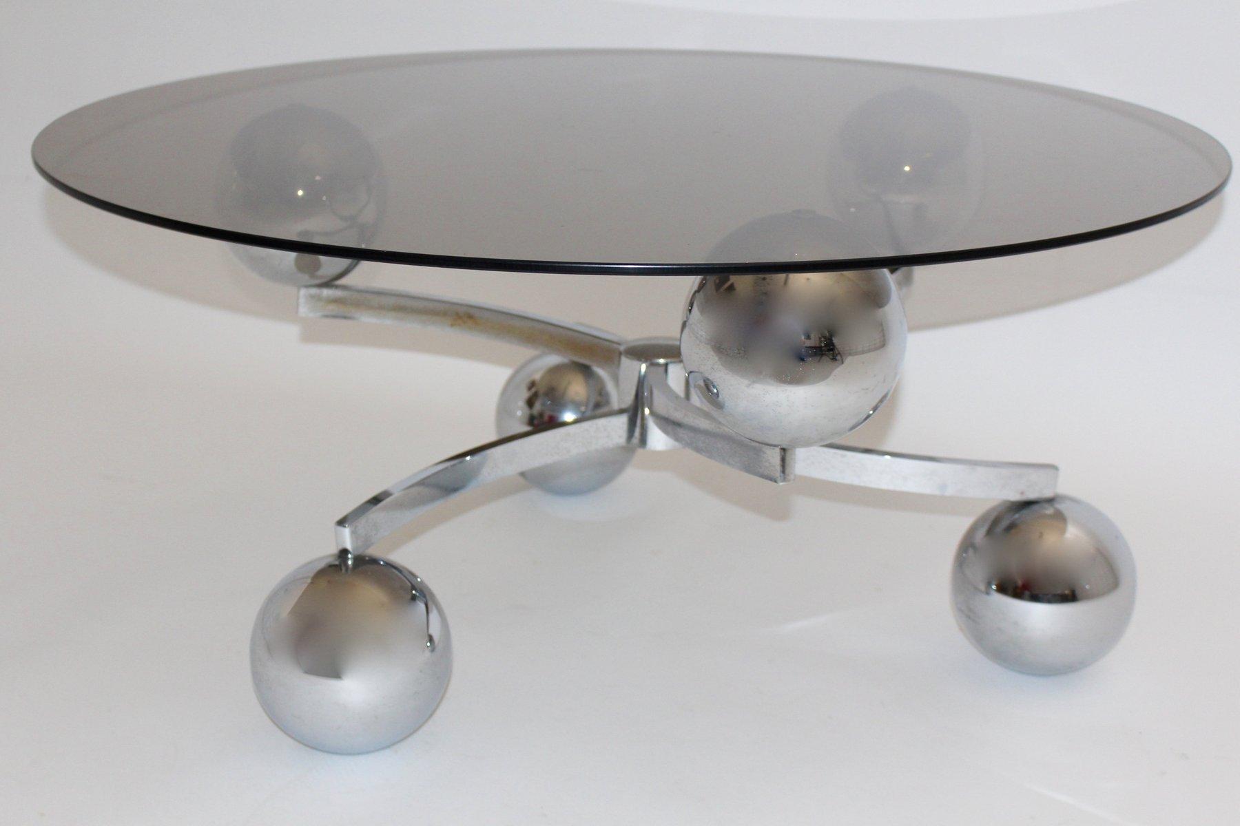 Verchromter Sputnik Couchtisch, 1970er