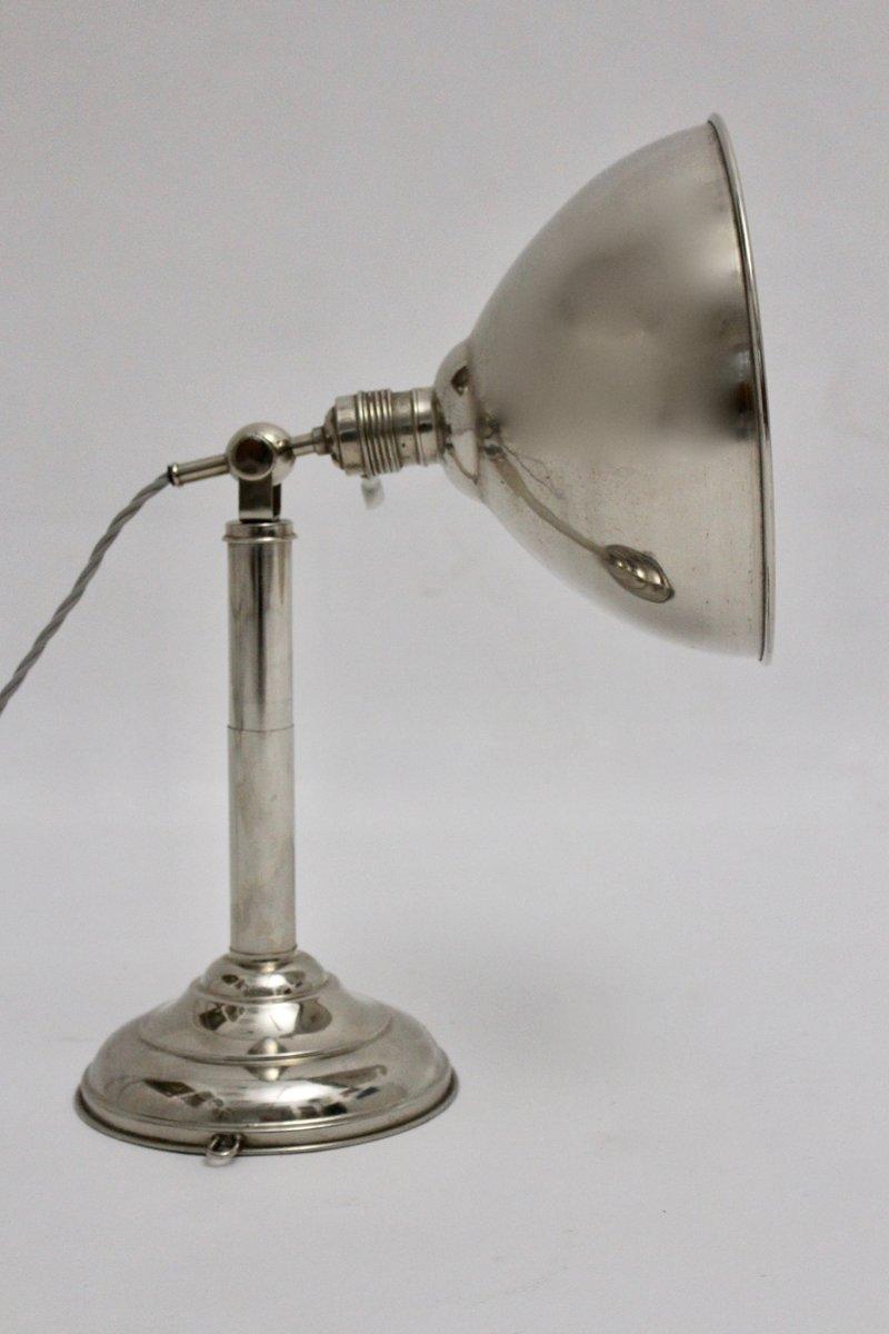 Verchromte Tischlampe, 1930er