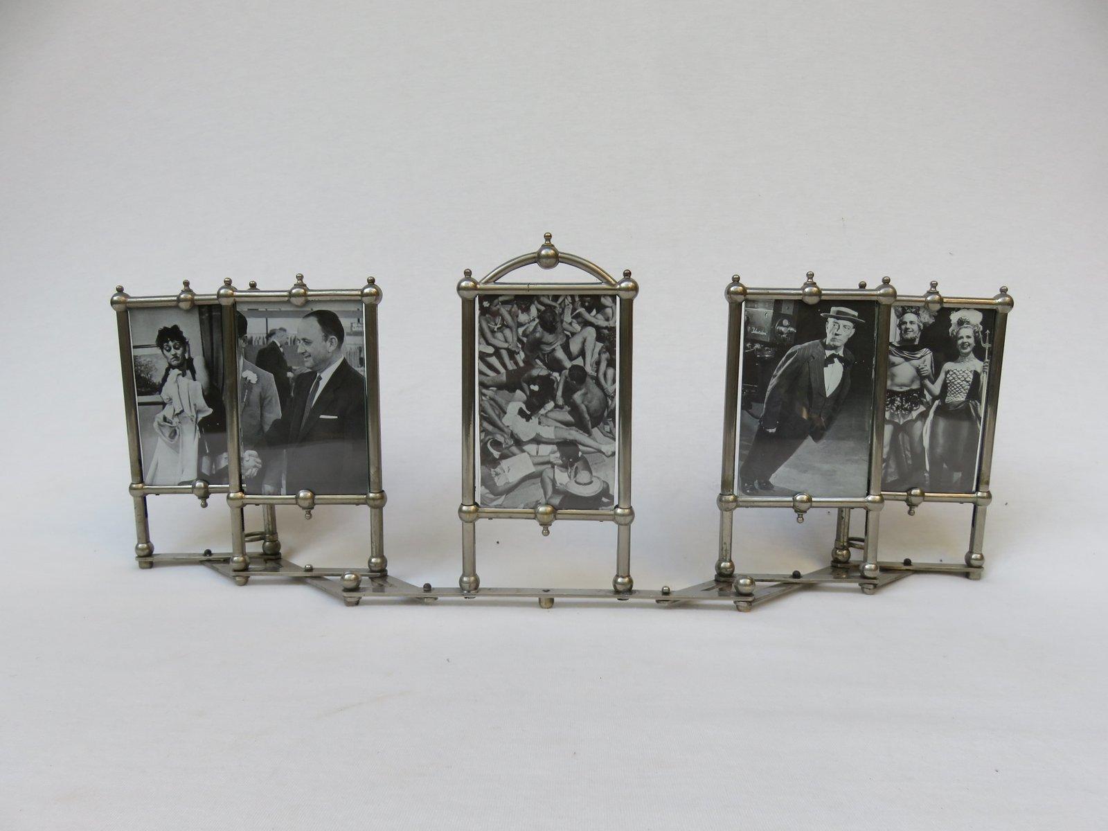 Vernickelter Jugendstil Rahmen für 5 Fotografien bei Pamono kaufen