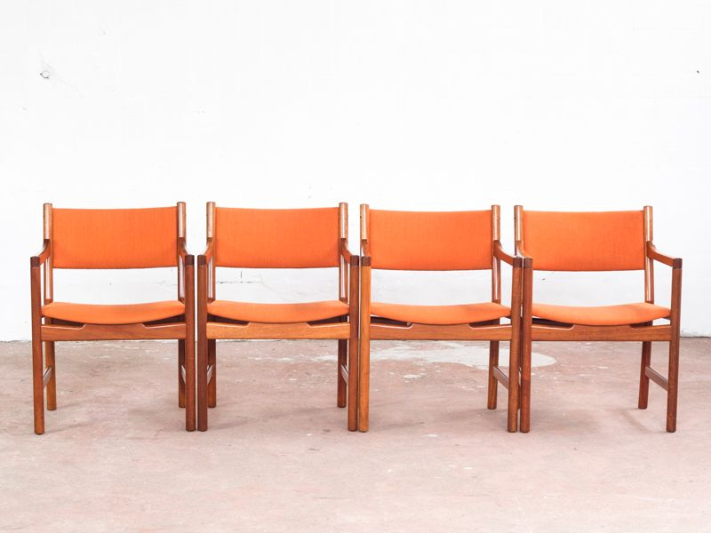 mid century armchair in teak by hans wegner for johannes hansen 1