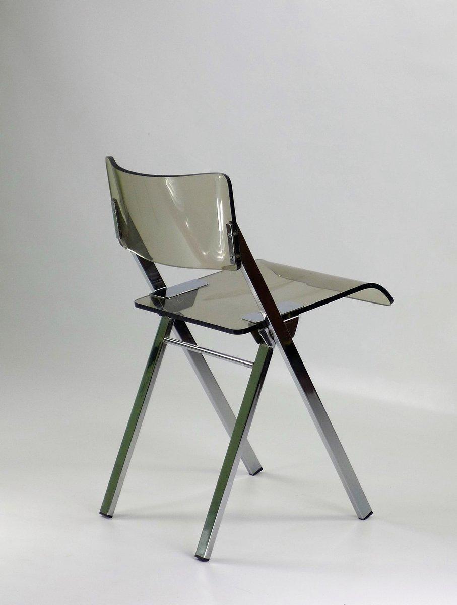 Sedia pieghevole in plexiglas anni 39 70 in vendita su pamono for Sedia design anni 70