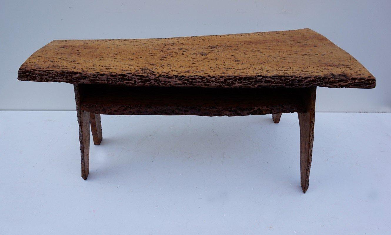 table basse mid century en tronc de noyer en vente sur pamono. Black Bedroom Furniture Sets. Home Design Ideas
