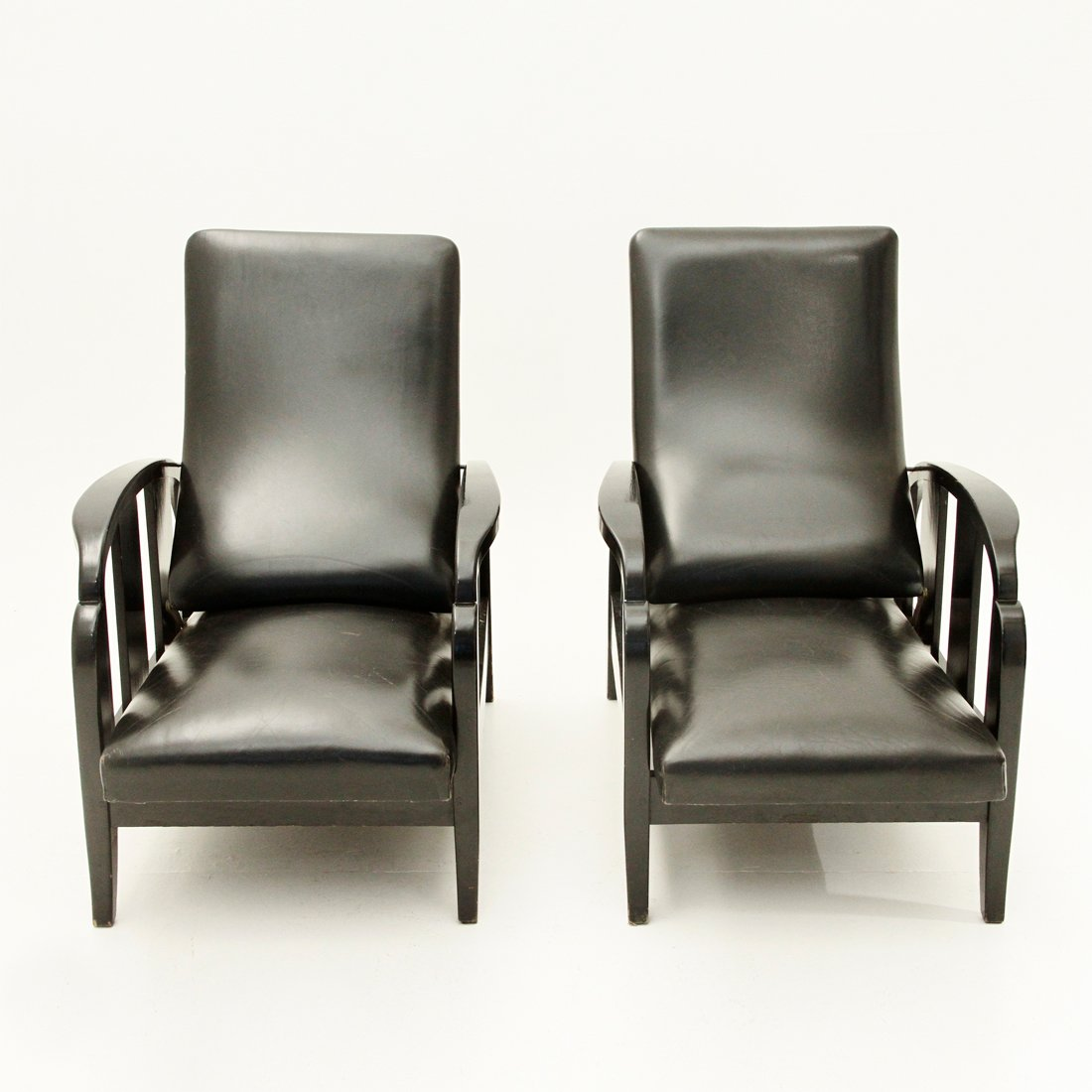schwarze art deco leder sessel 1930er 2er set bei pamono kaufen. Black Bedroom Furniture Sets. Home Design Ideas