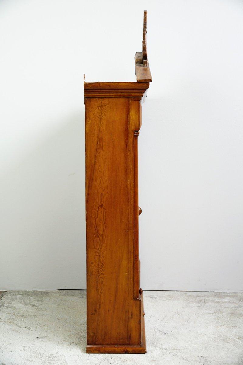 meuble suspendu art nouveau avec vitrail sur le panneau frontal 1900s en vente sur pamono. Black Bedroom Furniture Sets. Home Design Ideas