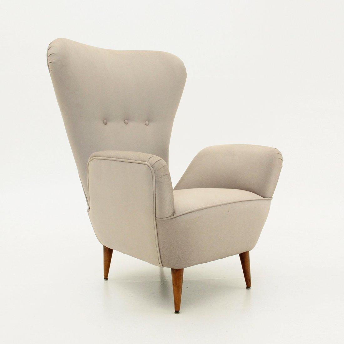 Faszinierend Sessel Hohe Lehne Sammlung Von Italienischer Mit Hoher Rückenlehne Und Konischen Beinen,