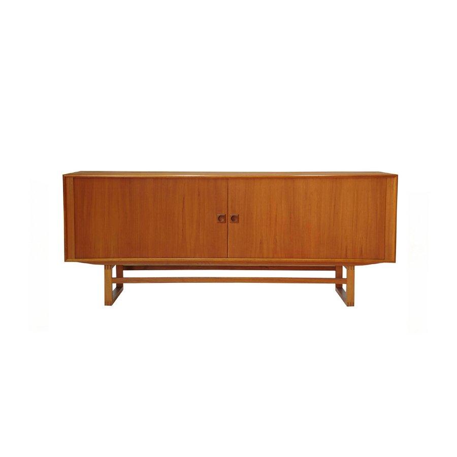 Vintage Scandinavian Modern Teak Sideboard mit Rolltüren von ACO Moble...