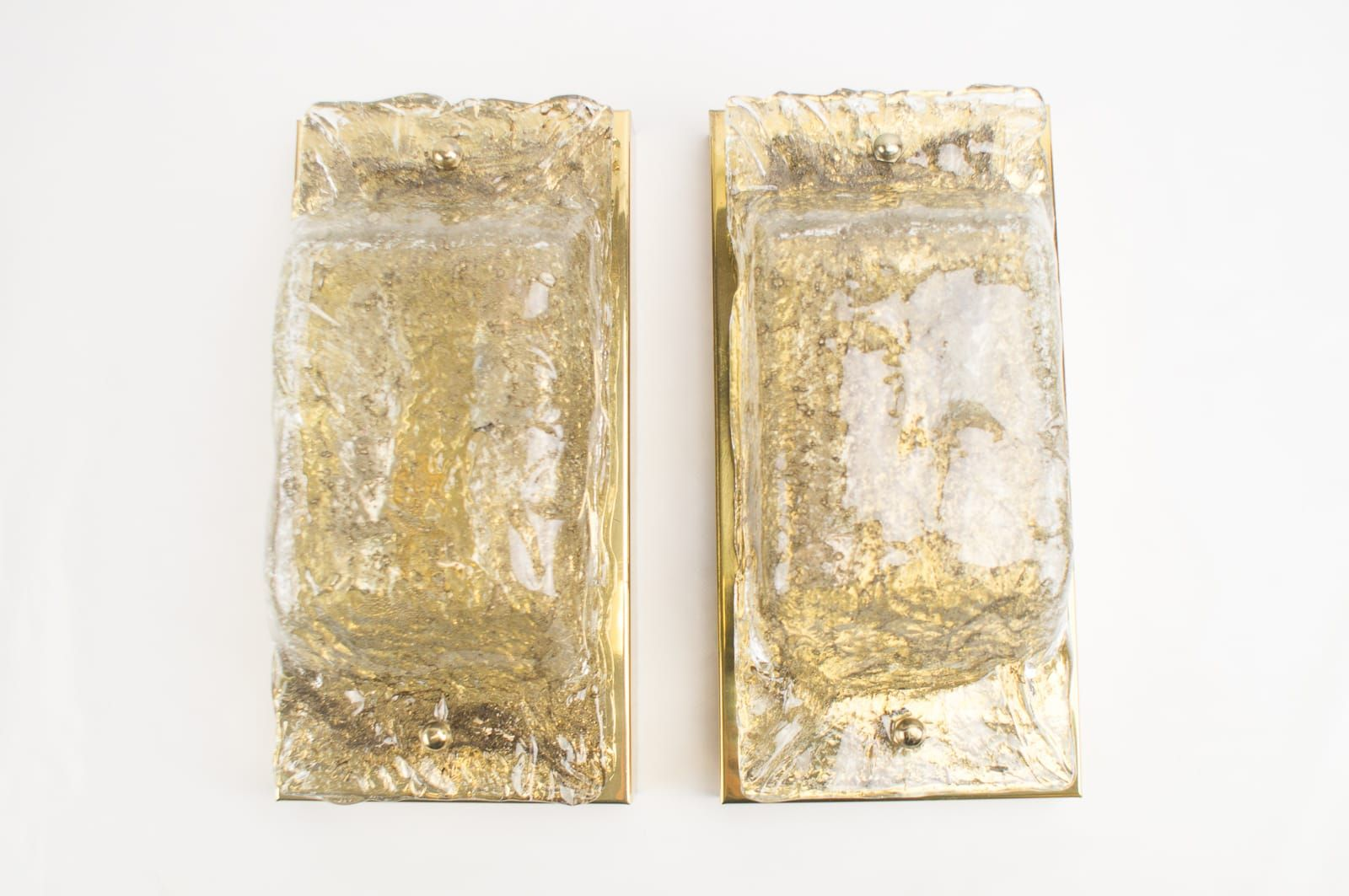 Wandleuchten aus Murano Glas und Messing von Cossack, 1960er, 2er Set
