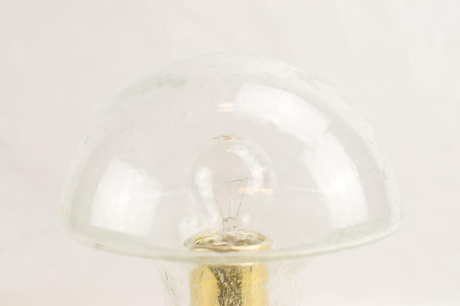 tischleuchte aus glas und messing von baum leuchten 1960er bei pamono kaufen. Black Bedroom Furniture Sets. Home Design Ideas