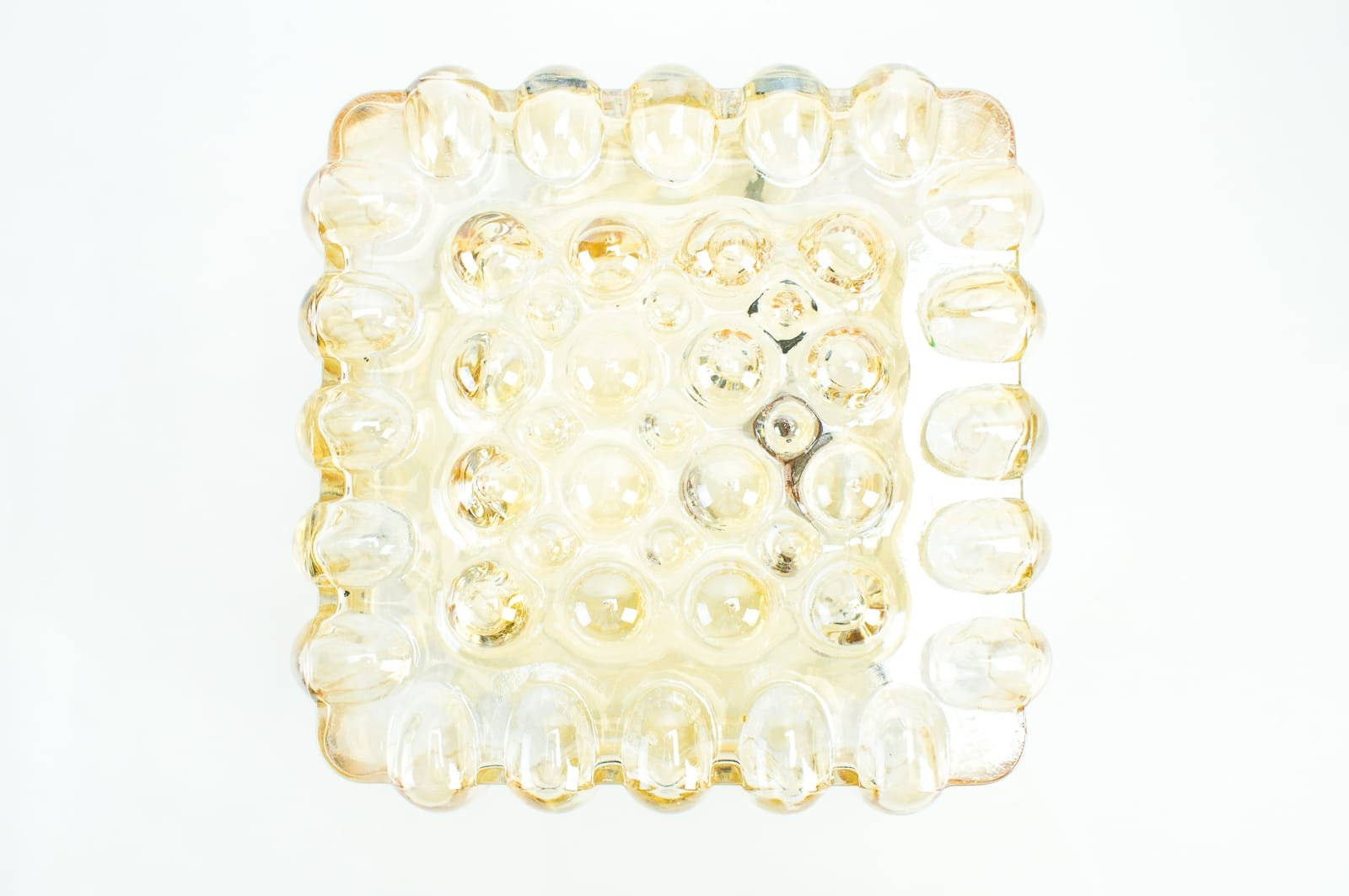 Glas Wandlampen, 1960er, 2er Set