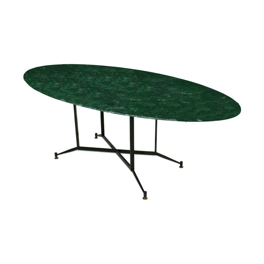 Indian Green Marble Dining Table 1950s For Sale At Pamono