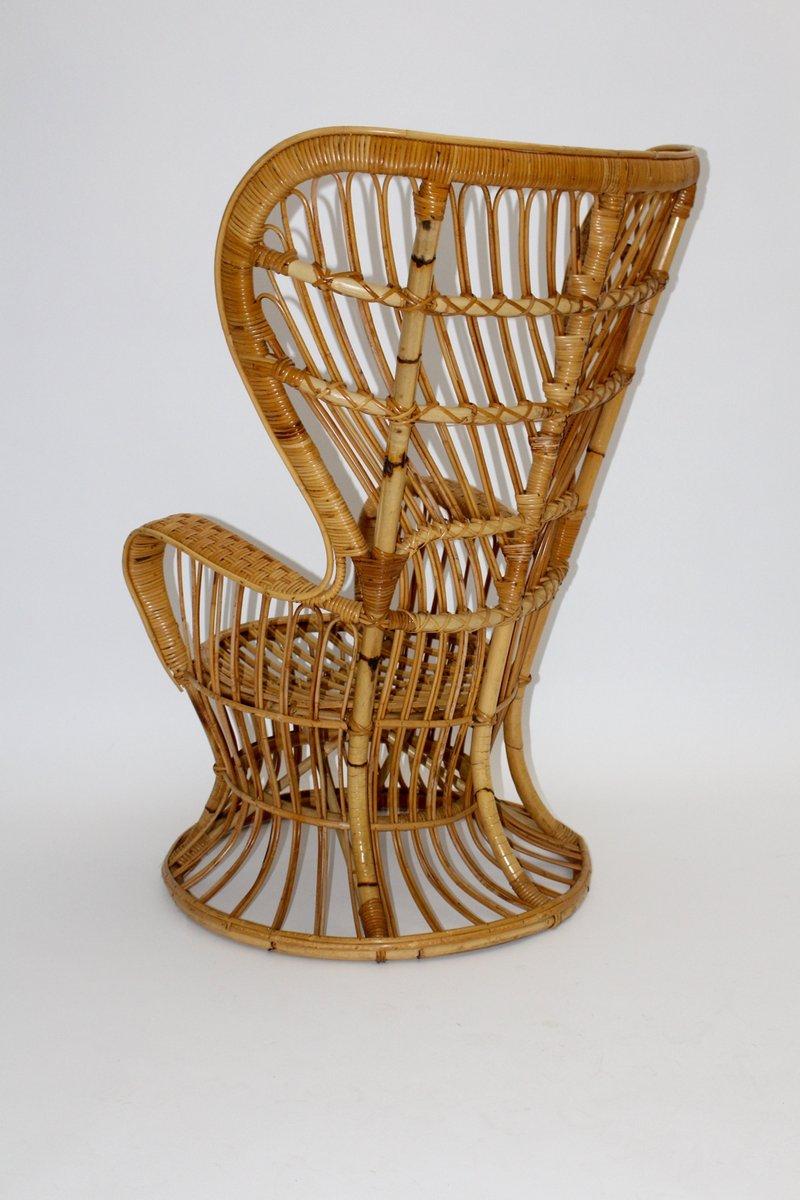 chaise en osier par lio carminati italie 1940s en vente sur pamono. Black Bedroom Furniture Sets. Home Design Ideas