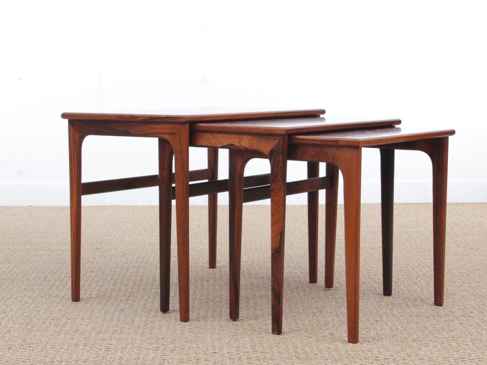 Skandinavische Mid-Century Modern Satztische aus Rio Palisander, 1960e... | Wohnzimmer > Tische > Satztische & Sets | Braun