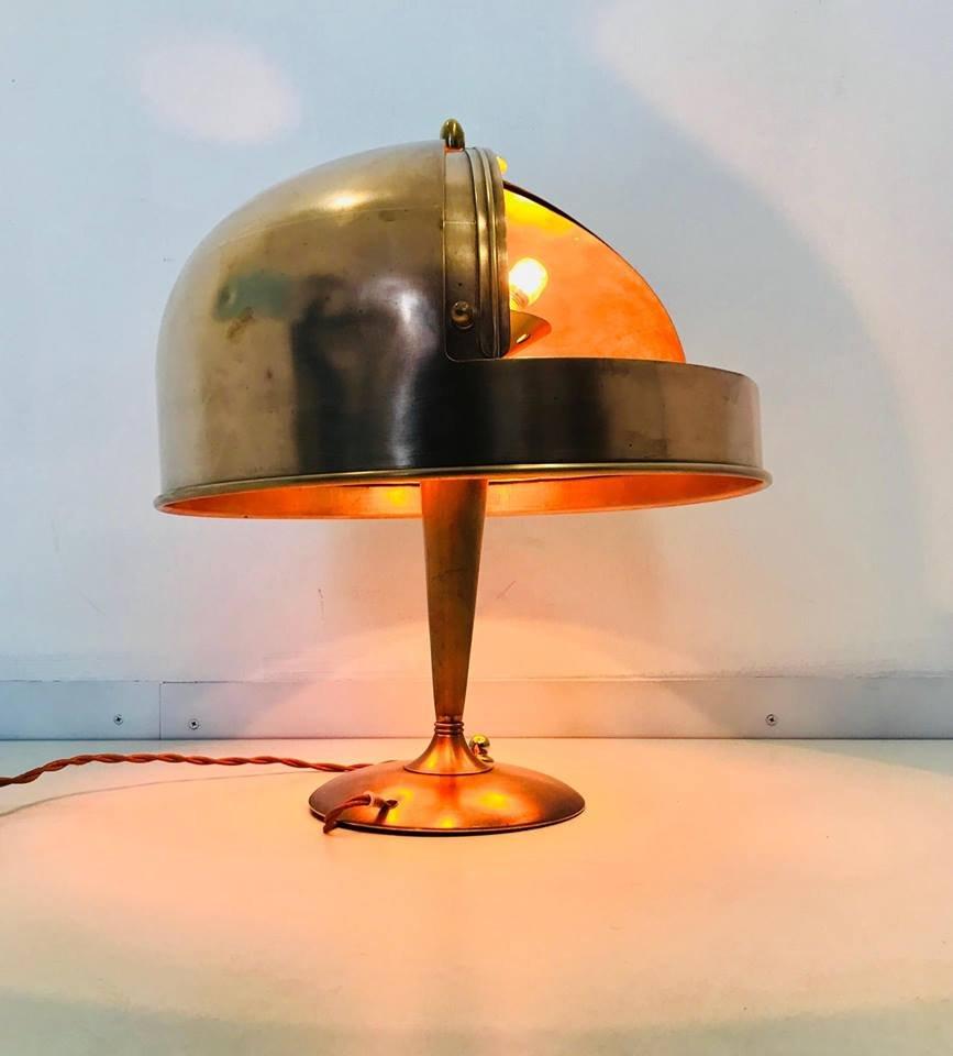 lampe de bureau art d co en cuivre 1930s en vente sur pamono. Black Bedroom Furniture Sets. Home Design Ideas