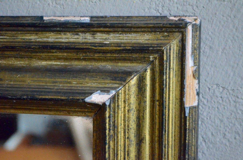 Specchio vintage dorato francia in vendita su pamono - Specchio dorato antico ...