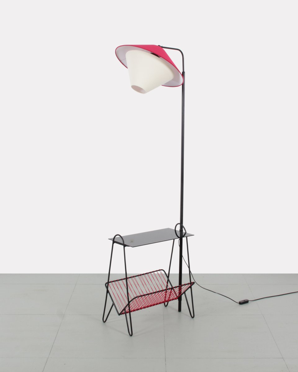 Metall Stehlampe, 1950er
