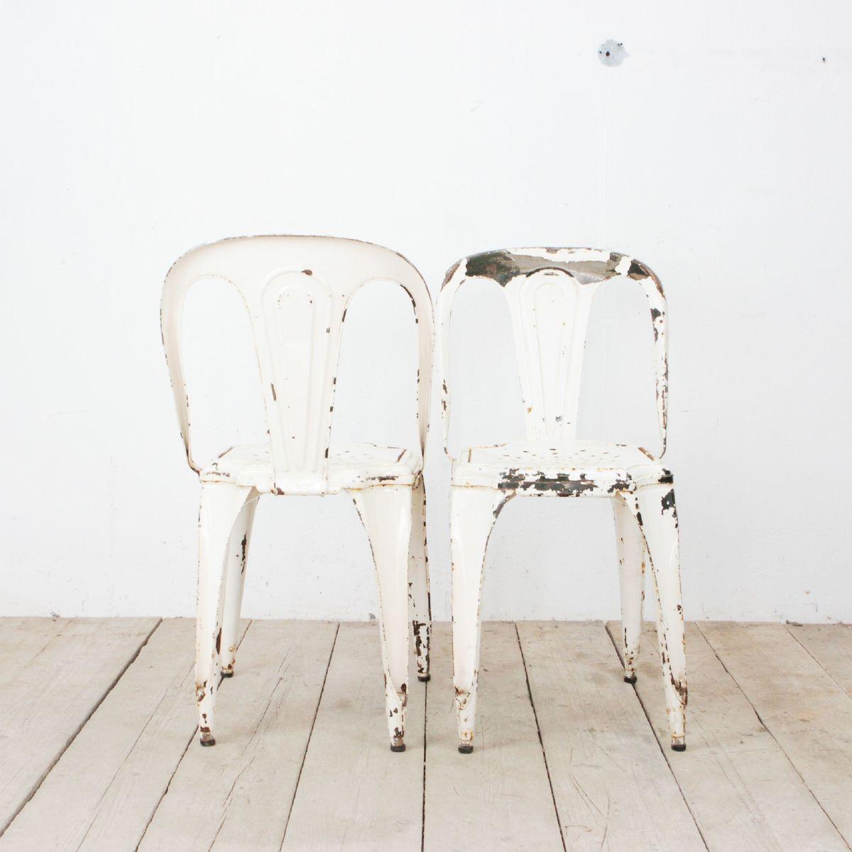 chaise blanche vintage de fibrocit en vente sur pamono. Black Bedroom Furniture Sets. Home Design Ideas