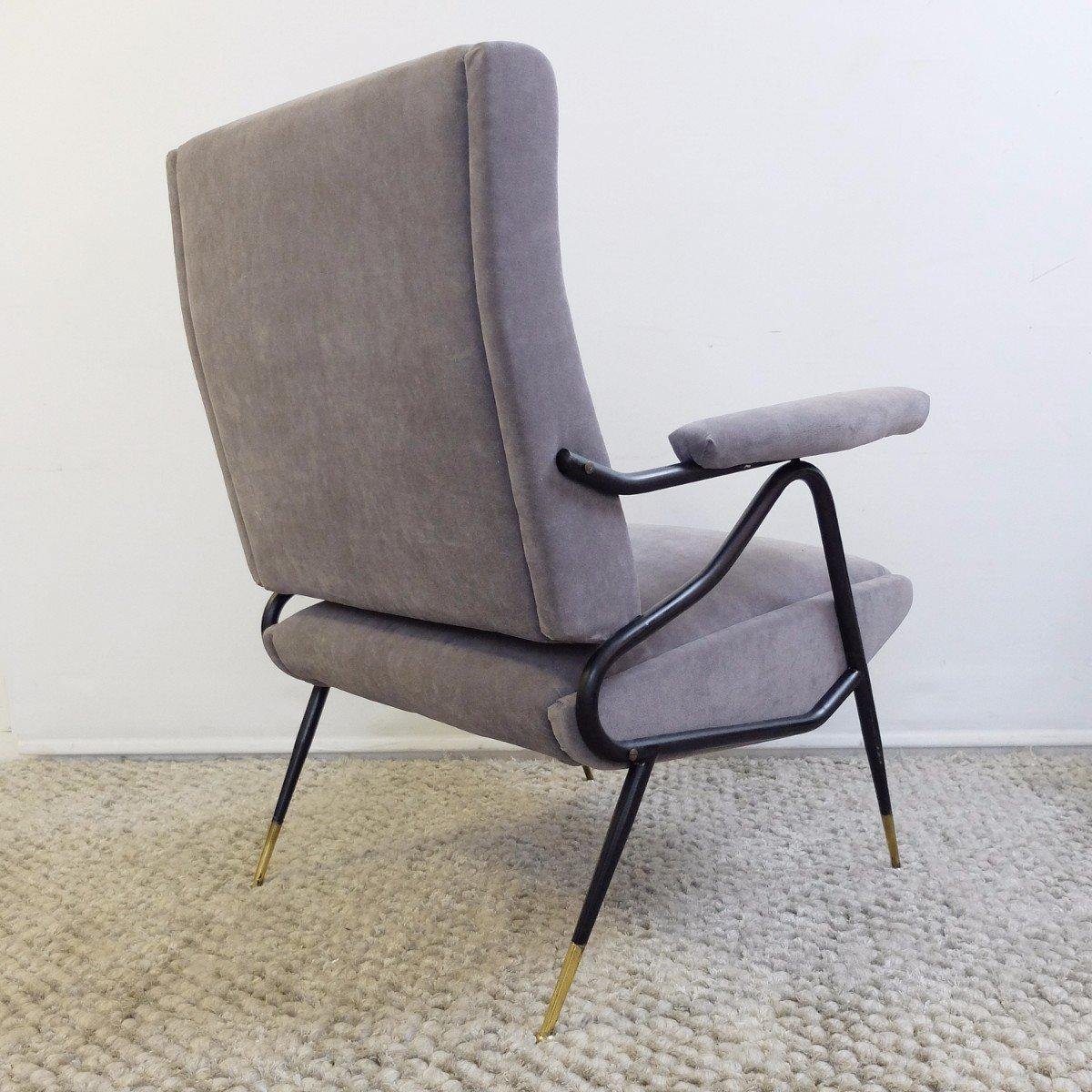 verstellbare italienische vintage sessel 2er set bei pamono kaufen. Black Bedroom Furniture Sets. Home Design Ideas