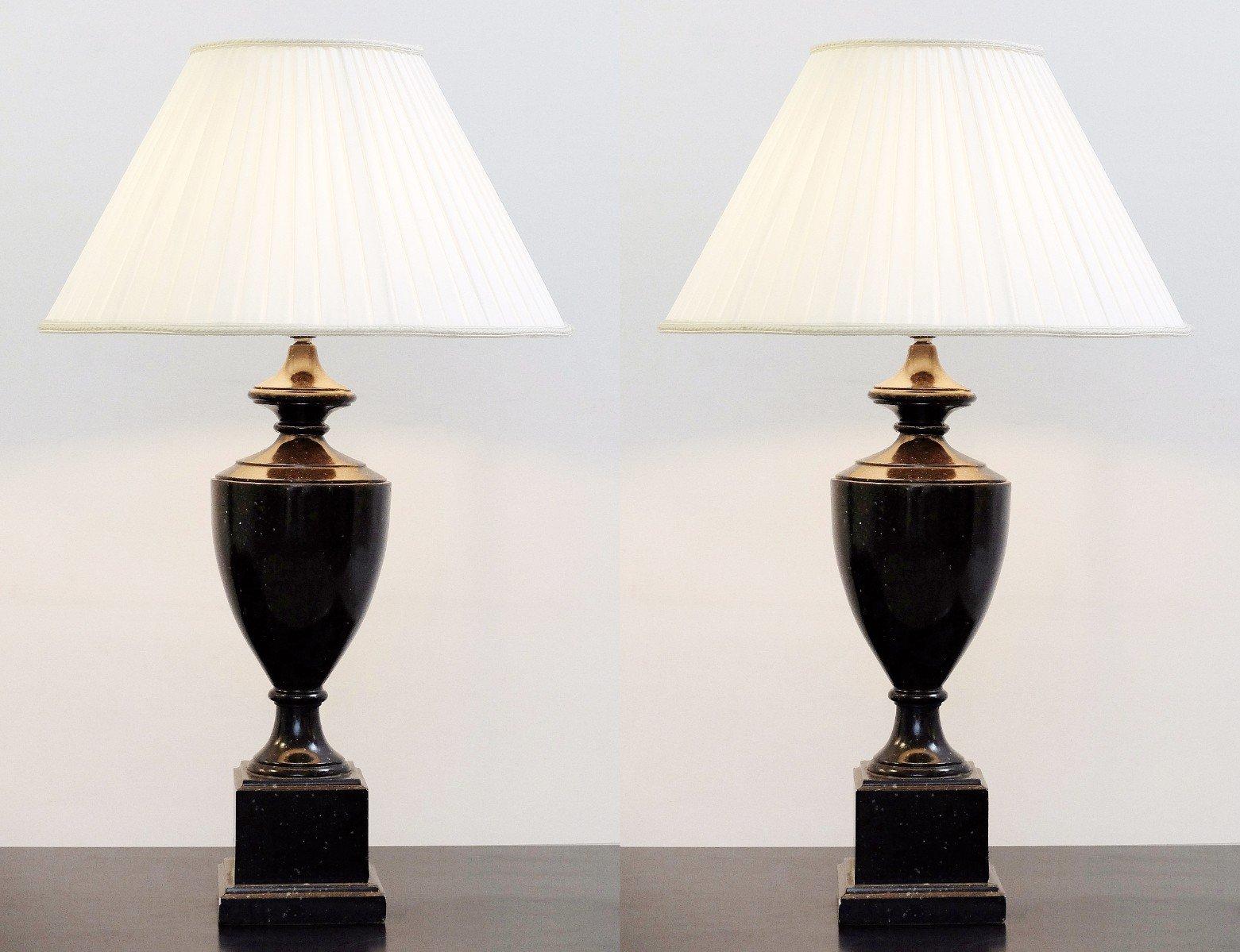 Vintage Tischlampen, 1980er, 2er Set