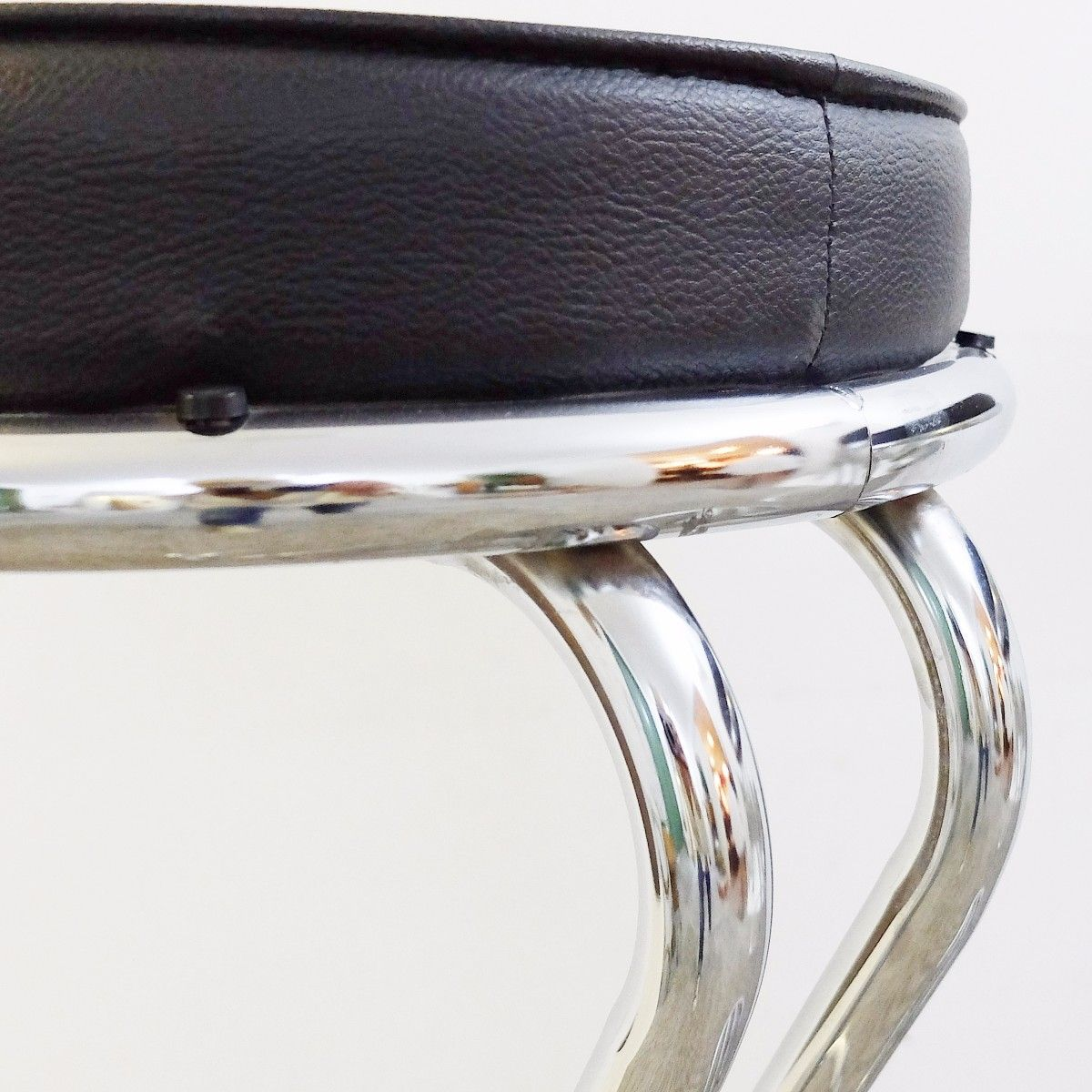 Mid Century Modern Chrome Bar Stools Set Of 2 For Sale At