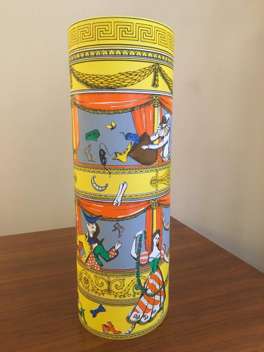 Commedia Italiana Tischlampe von Fornasetti für Antonangeli, 1990er