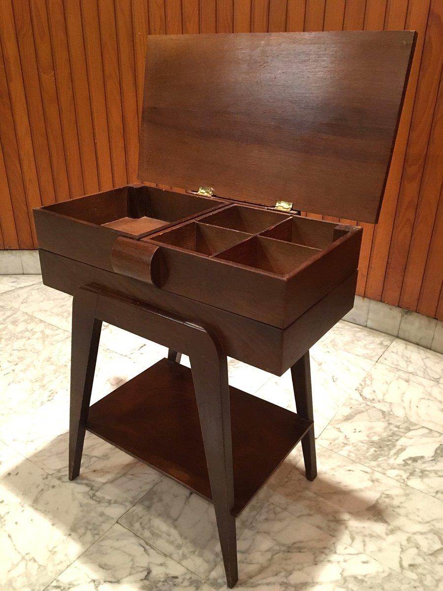 franz sischer mid century beistelltisch mit schublade bei. Black Bedroom Furniture Sets. Home Design Ideas
