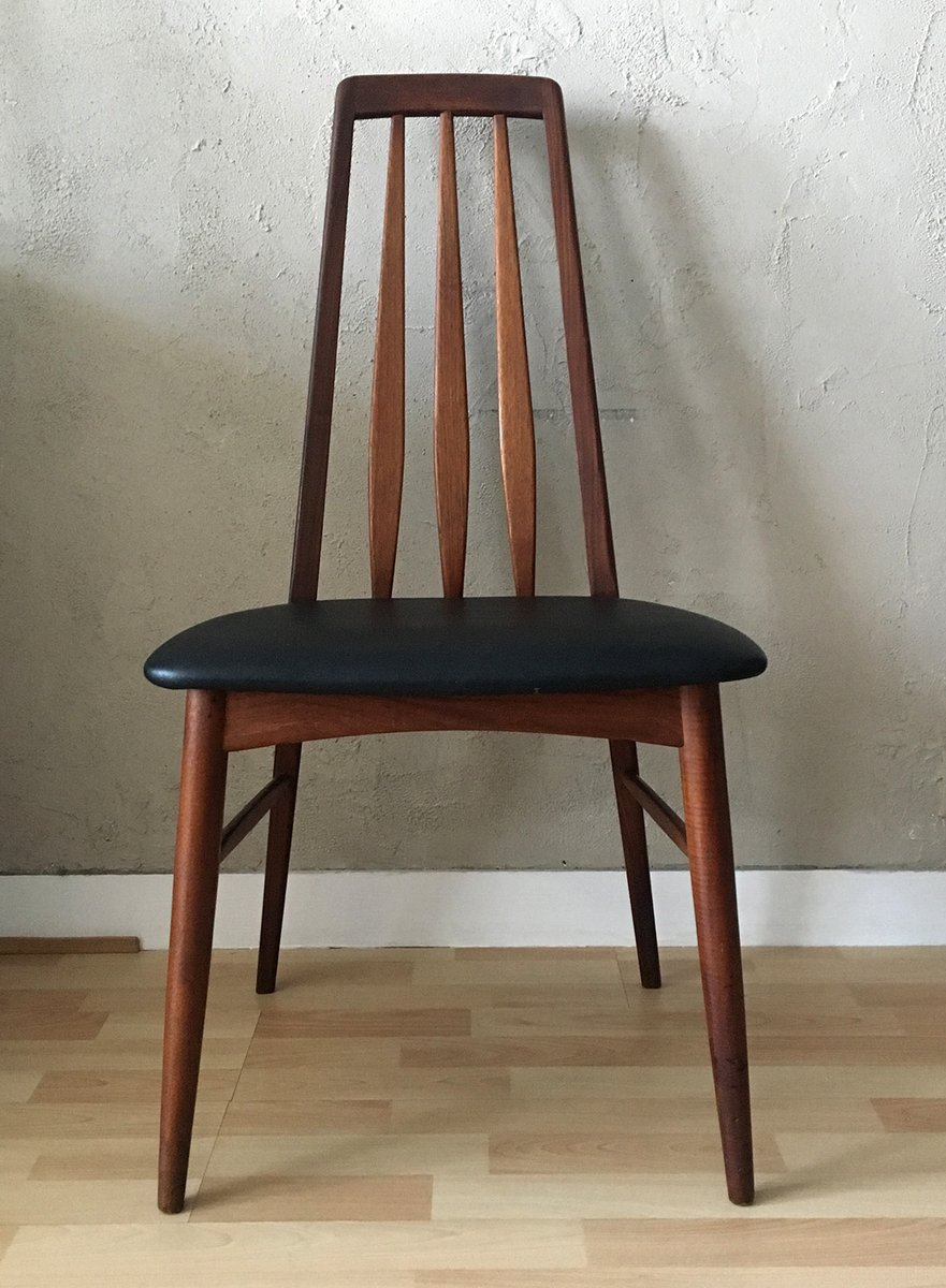 Mid Century Eva Teak Dining Chair By Niels Koefoed For