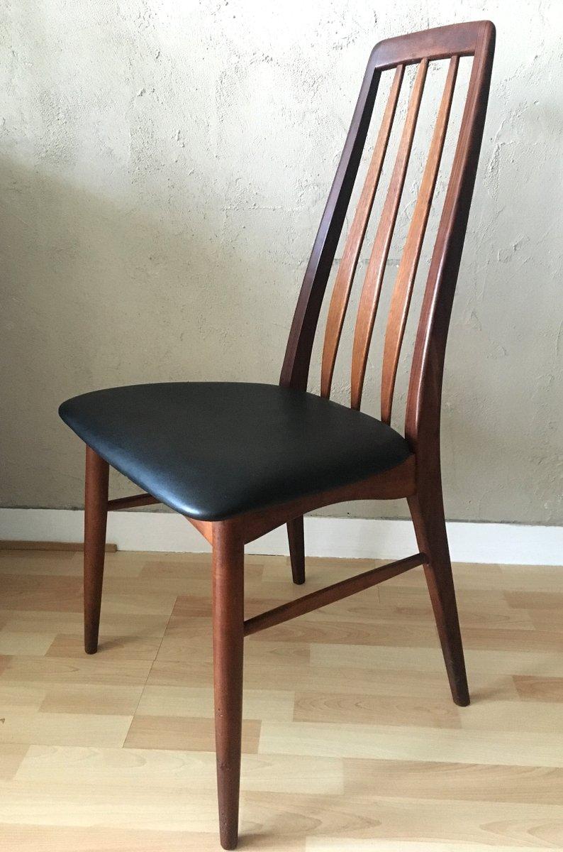 mid century eva teak stuhl von niels koefoed f r koefoeds. Black Bedroom Furniture Sets. Home Design Ideas