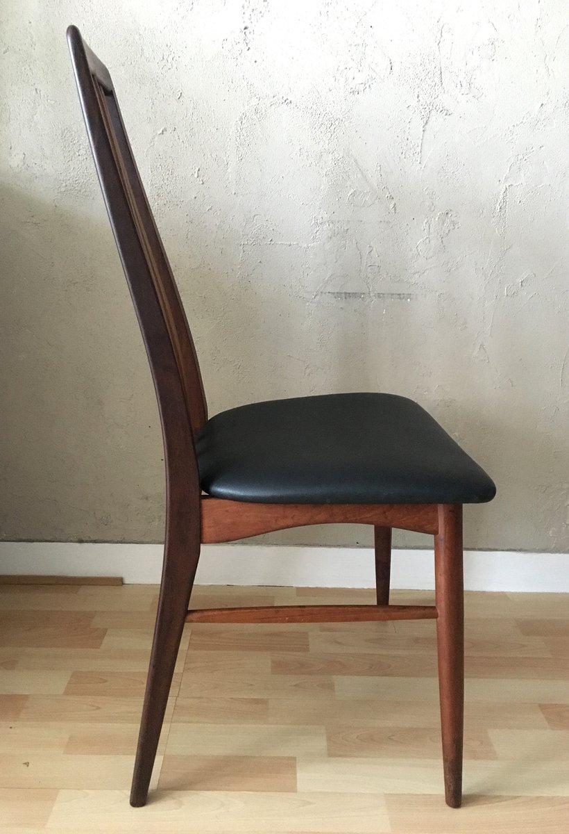 Mid Century Eva Teak Dining Chair By Niels Koefoed For