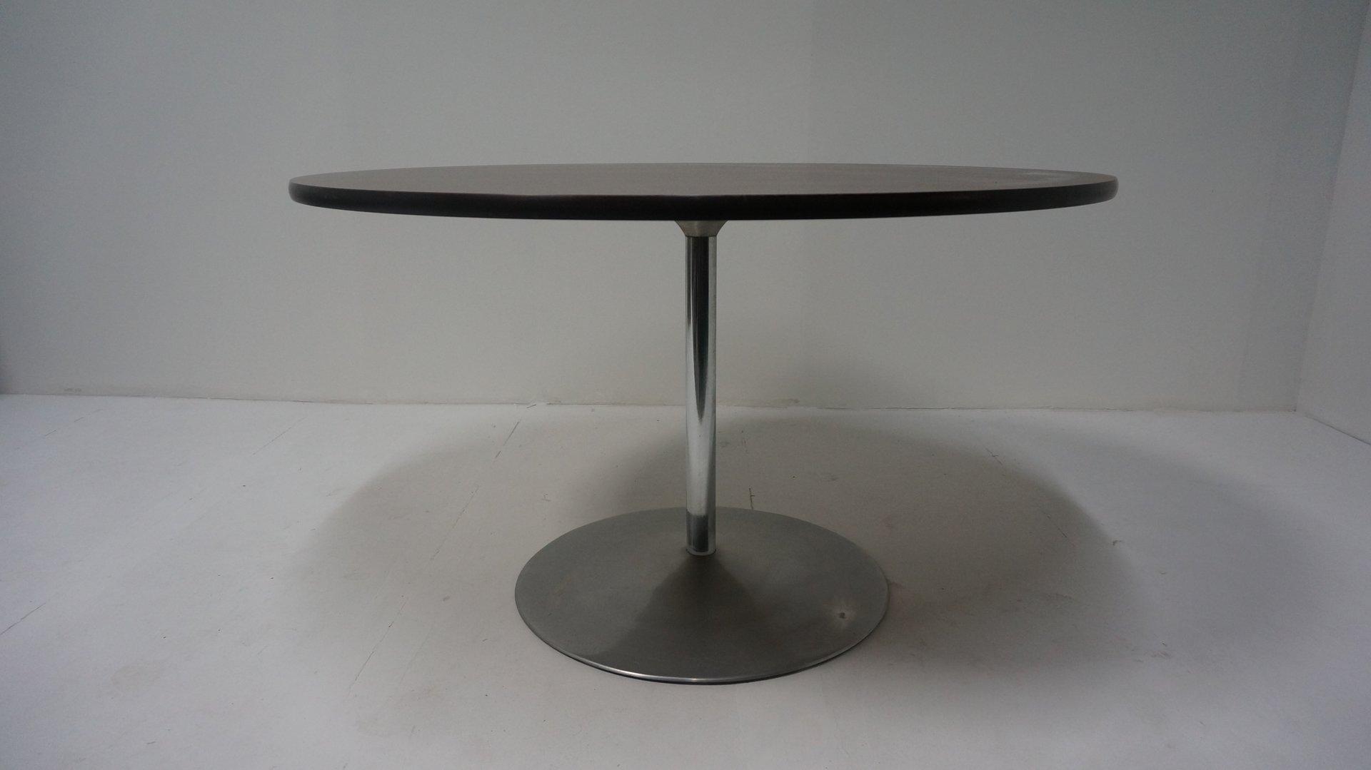 runder vintage tisch von verner panton f r fritz hansen bei pamono kaufen. Black Bedroom Furniture Sets. Home Design Ideas