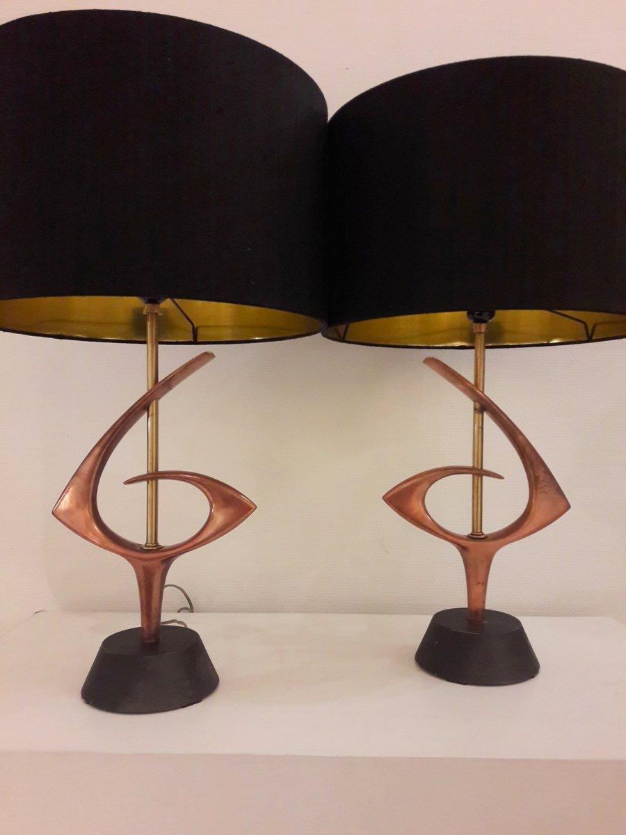 Lampada Da Tavolo Atomic Anni 39 60 Set Di 2 In Vendita Su