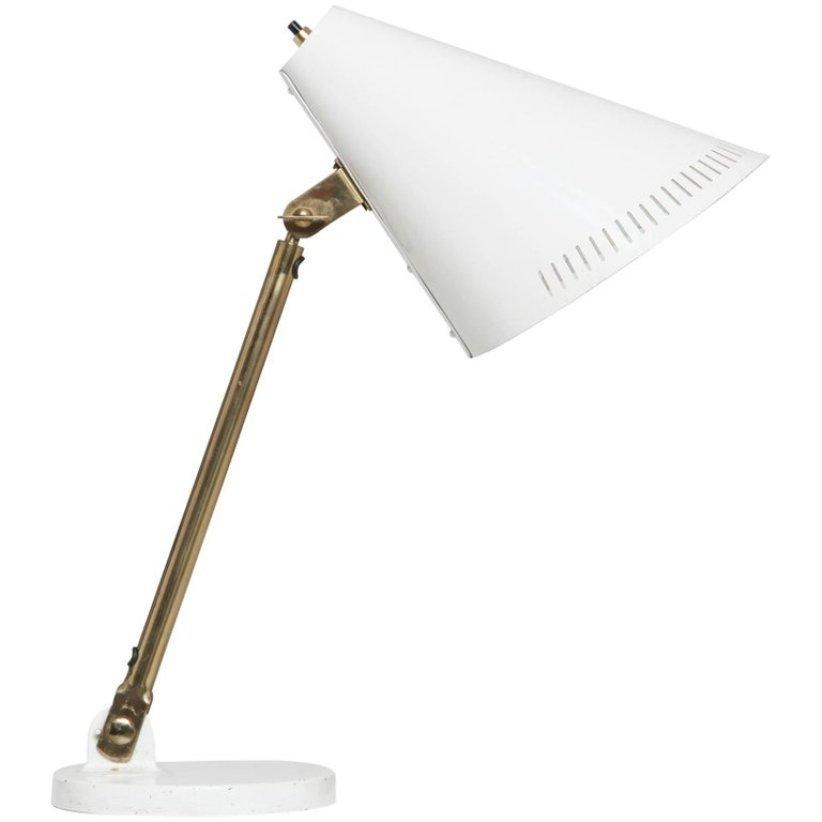 Weiße 9227 Schreibtischlampe von Paavo Tynell, 1950er