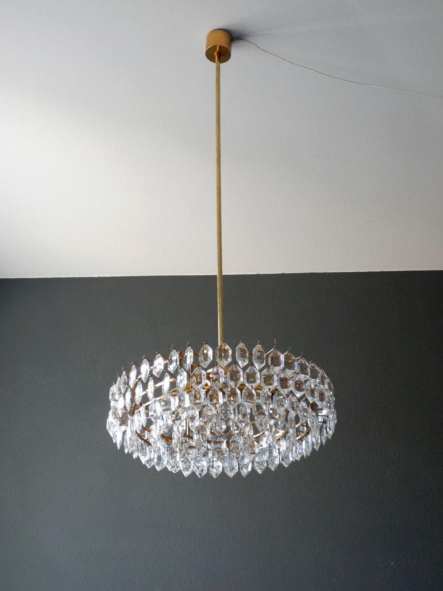 lustre en cristal avec structure en laiton de bakalowits. Black Bedroom Furniture Sets. Home Design Ideas