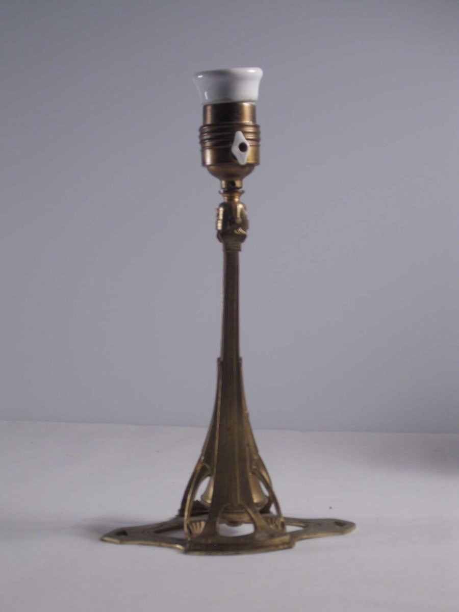 Jugendstil Combination Lampe, 1900er