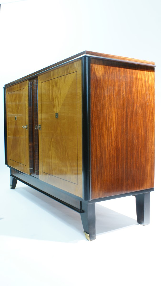 two toned french art deco sideboard 1940s for sale at pamono. Black Bedroom Furniture Sets. Home Design Ideas