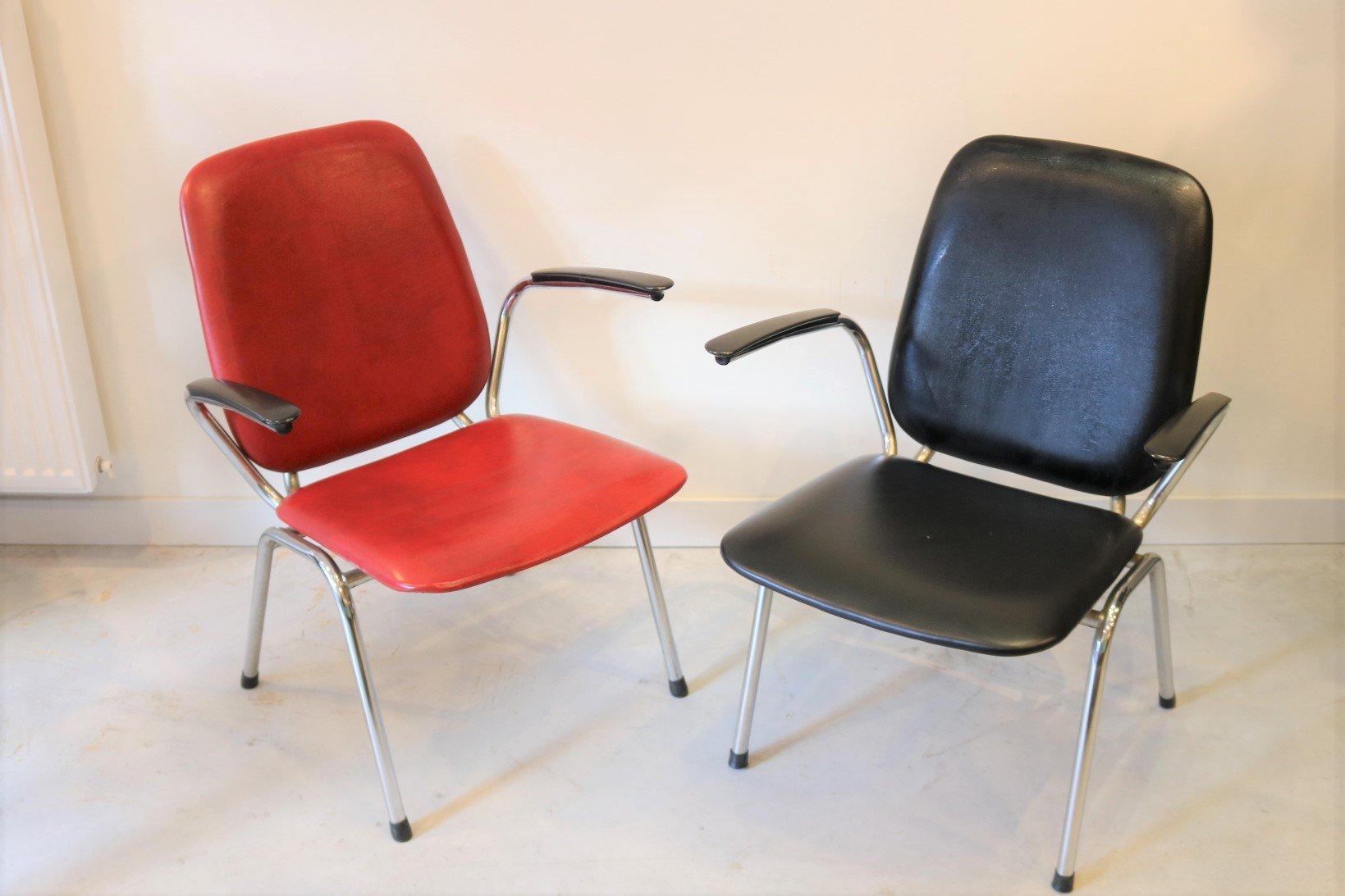 Stühle und Couchtisch von Gebroeders De Wit für Gispen, 1960er, 3er Se...