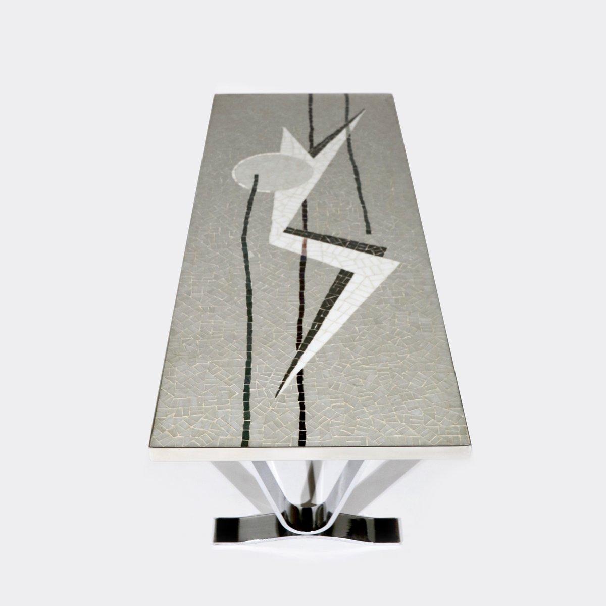 table basse futuriste avec mosa que allemagne 1960s en vente sur pamono. Black Bedroom Furniture Sets. Home Design Ideas