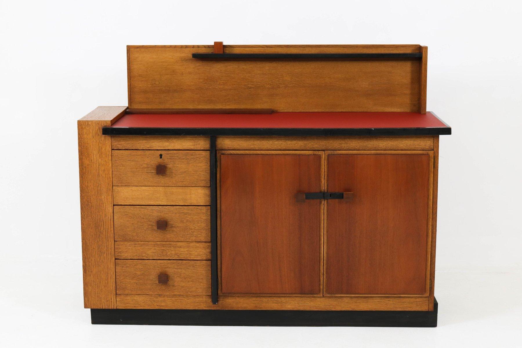 Vintage Eichenholz Sideboard von Jan Brunott, 1920er