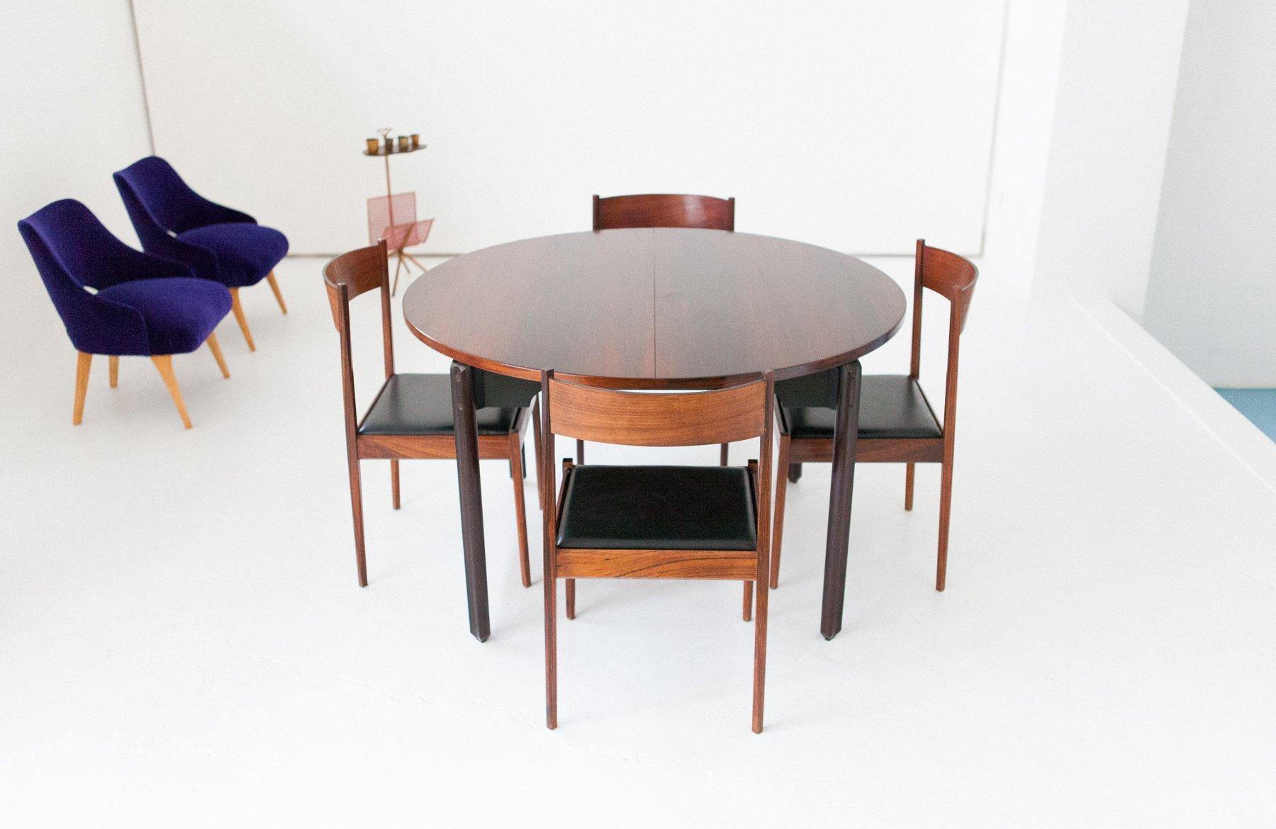 salle a manger 1960 - table de salle manger 4 chaises en palissandre de stildomus 1960s en vente sur pamono