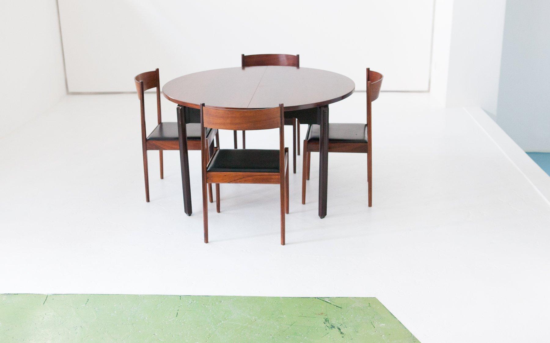 Tavolo da pranzo con 4 sedie in palissandro di stildomus - Sedie tavolo da pranzo ...